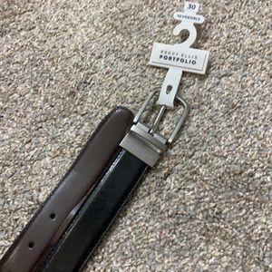 NWT PERRY ELLIS Reversible Black/Brown Belt 30